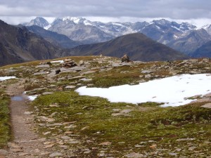Blick zurück auf dem Weg vom Defereggental zur Ochsenlenke